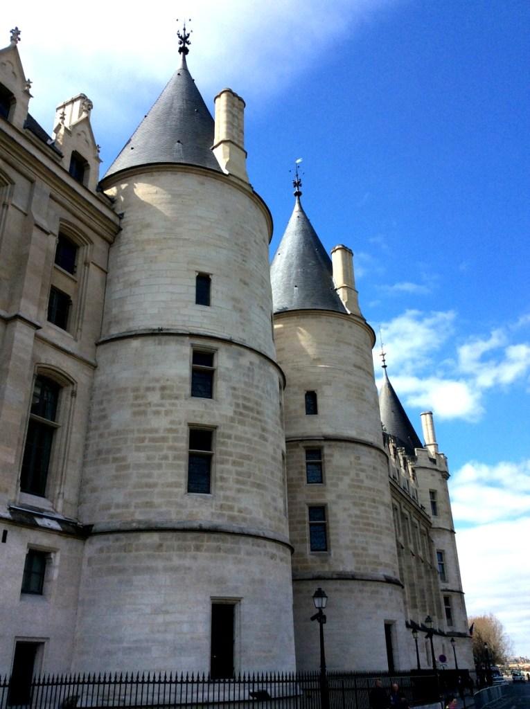 La Conciergerie towers, Paris; from a travel blog by www.traveljunkiegirl.com