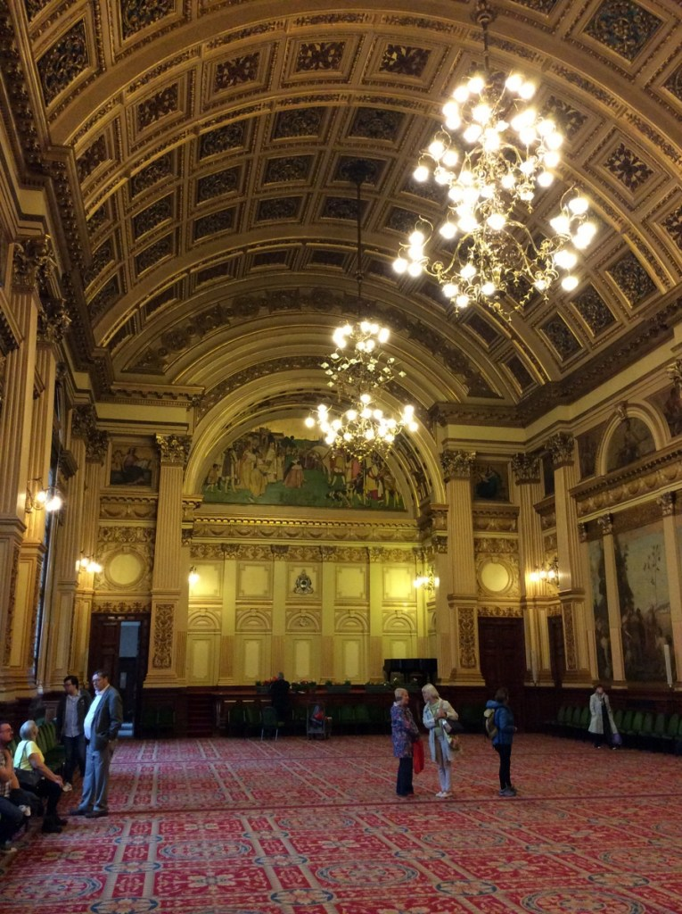 The Banqueting Hall at City Chambers, Glasgow; from a travel blog by www.traveljunkiegirl.com