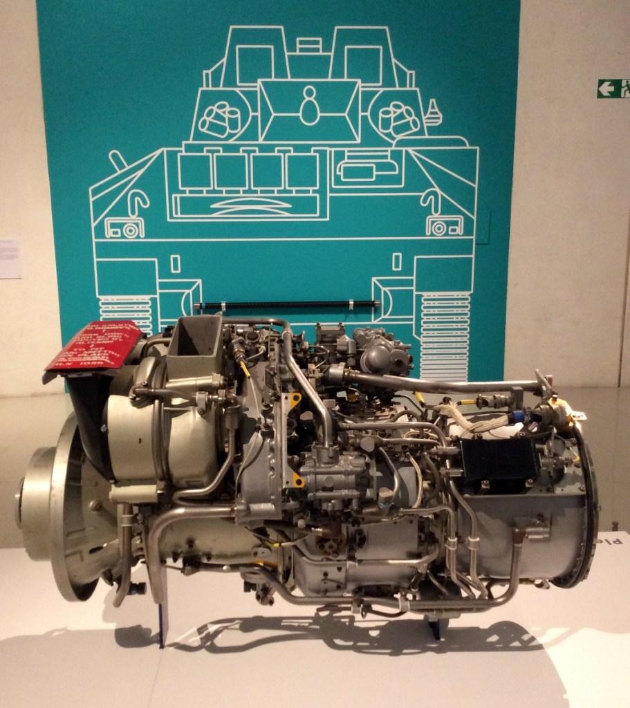 A Gem Aero Rolls-Royce engine used in Boeing aircraft at the Millennium Galleries, Sheffield; from a travel blog by www.traveljunkiegirl.com