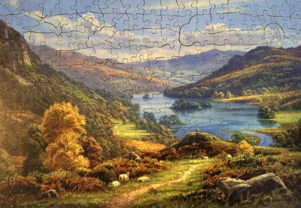 Wentworth Whimsy Puzzle of Rydal Water in the Lake Dsitrict, UK; from a travel blog by www.traveljunkiegirl.com