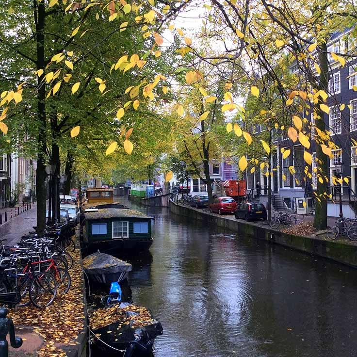 Autumn in Amsterdam - around every corner another stunning autumnal scene; from a travel blog by www.traveljunkiegirl.com