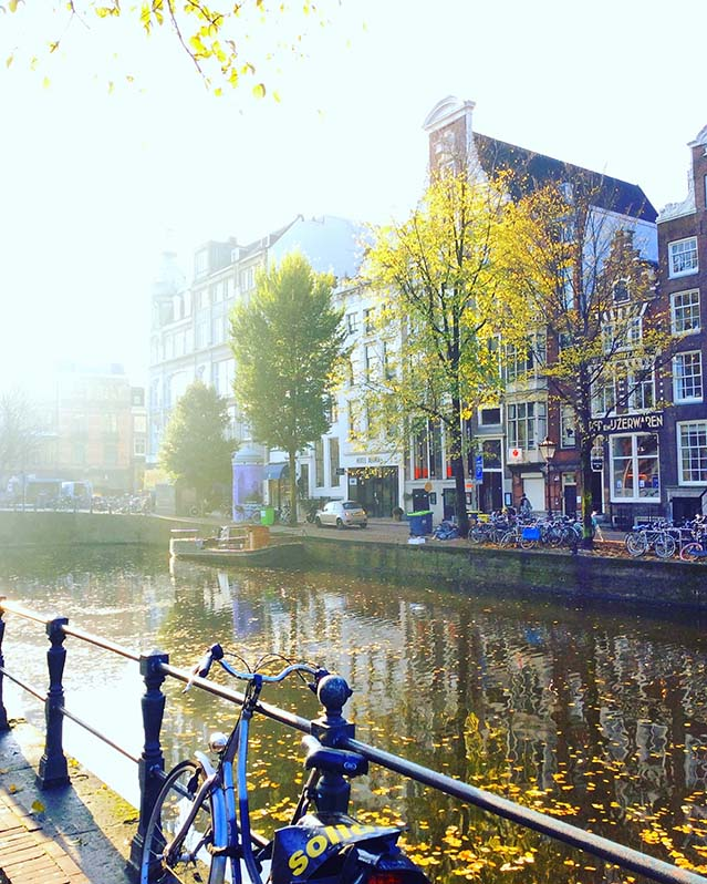 Autumn Light on Amsterdam's Canals; from a travel blog by www.traveljunkiegirl.com