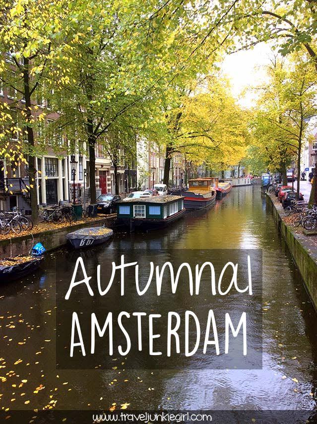 Discover Autumnal Amsterdam, a blog by www.traveljunkiegirl.com