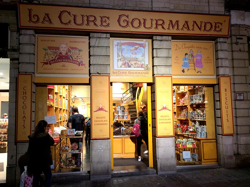 La Cure Gourmande just off Brussels Grand Place, Belgium; from a travel blog by www.traveljunkiegirl.com