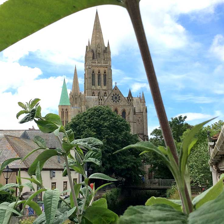Truro Cathedral, UK; from a travel blog by www.traveljunkiegirl.com