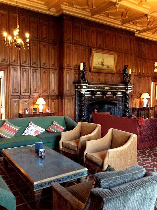 The Welcombe Hotel's Main Lounge, Warwickshire; from a travel blog by www.traveljunkiegirl.com