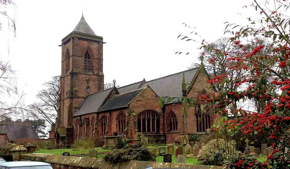 St Helen's Church in Tarporley, Cheshire, UK; from a travel blog by www.traveljunkiegirl.com