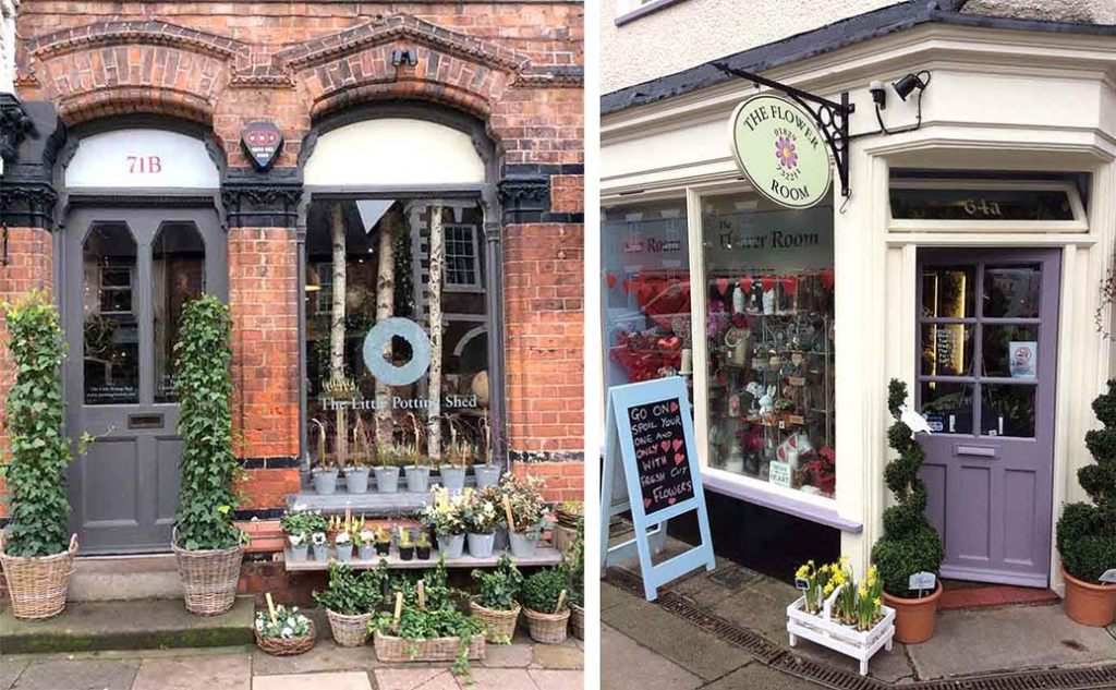 Flower Shops of Tarporley, Cheshire, UK; from a travel blog by www.traveljunkiegirl.com