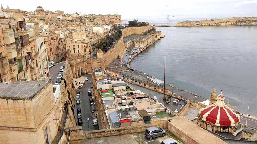 The Grand Harbour in Valletta, Malta; from a travel blog by www.traveljunkiegirl.com