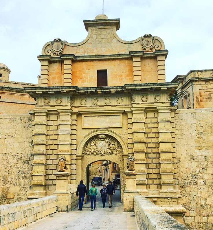 The Gates to Mdina, Malta; from a travel blog by www.traveljunkiegirl.com