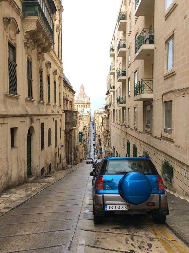 Old Mint Street in Valletta, Malta; from a travel blog by www.traveljunkiegirl.com