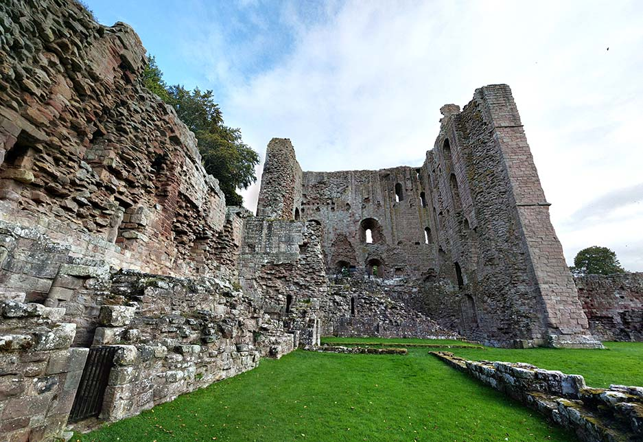 Norham Castle in Northumberland, England; from a cultural travel blog by www.traveljunkiegirl.com