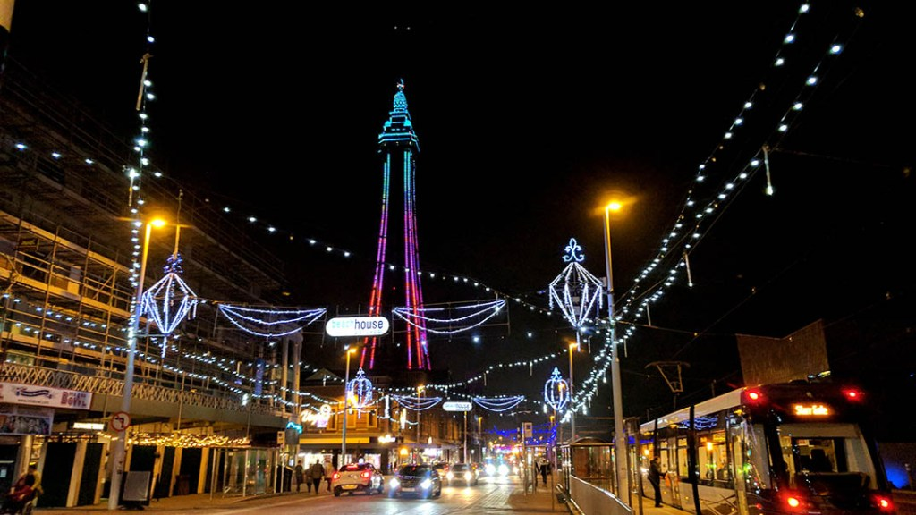 Blackpool Illuminations; from a travel blog by www.traveljunkiegirl.com
