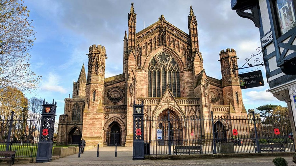 Hereford Cathedral, England; from a travel blog by www.traveljunkiegirl.com