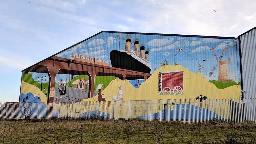 The Waterloo Murals project at Crosby, alongside the Marine Lake and by the beach; from a travel blog by www.traveljunkiegirl.com