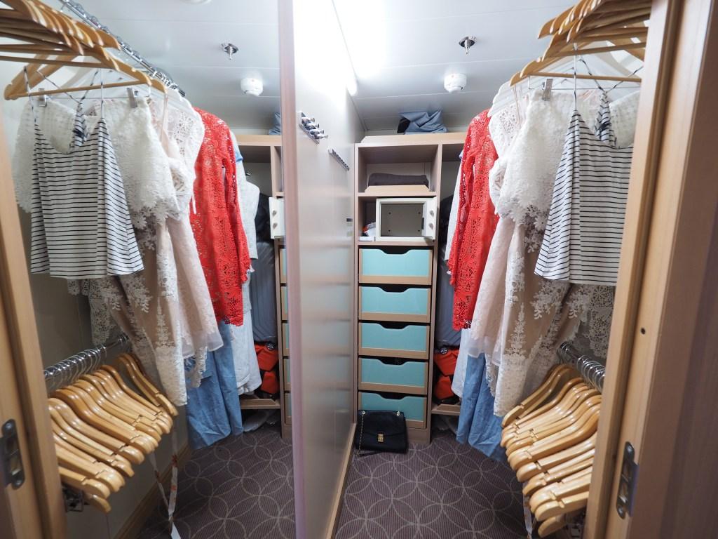 دولاب الملابس في جناح الغرفة