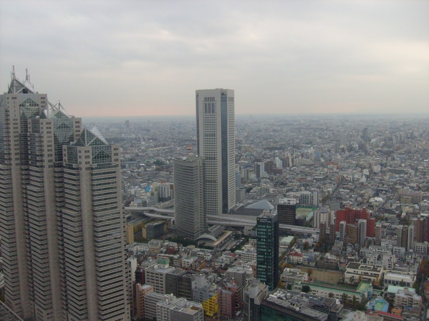 tokyo from the top
