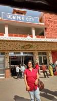 At Udaipur Station