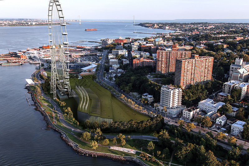 Artist's rendering of the New York Wheen on Staten Island.