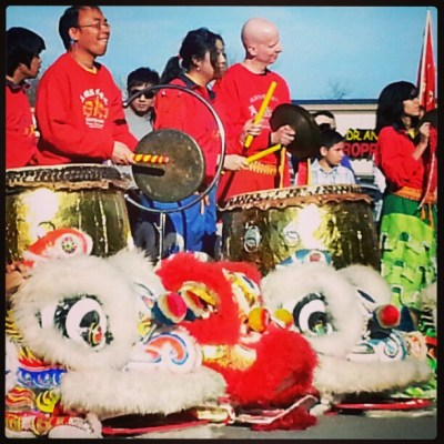 Lion Dance Drummers at Tet