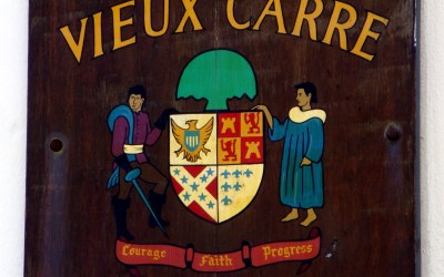 The Vieux Carre Commission Plaque