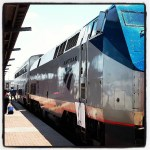 All aboard! @Amtrak at FTW for National Train Day 2013.
