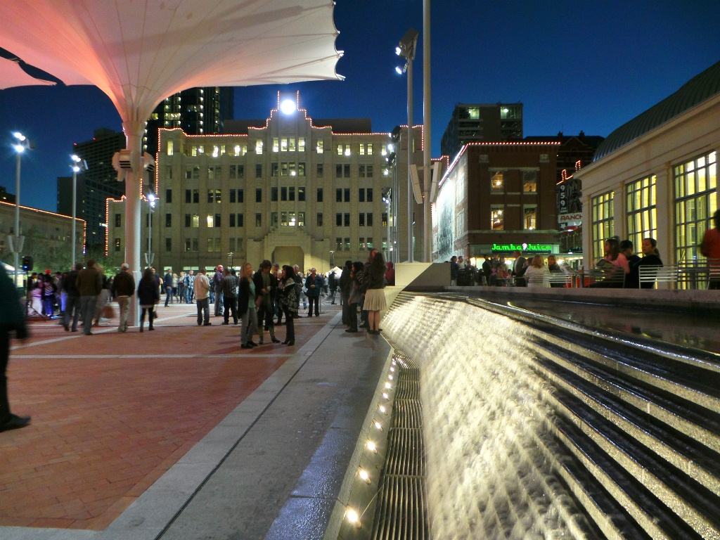 Sundance Square Wave Fountain