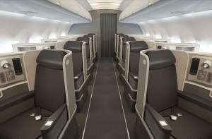 All-aisle First Class seating on AA's new Airbus A321.