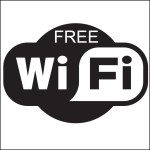 Our favorite sign while traveling: Free Wi-Fi and we are in business!