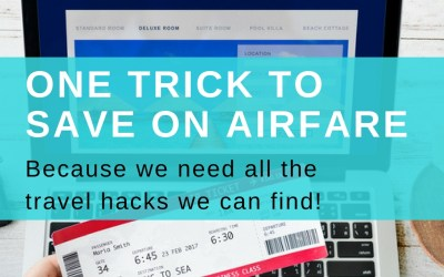 One Trick to Save on Air Fare via TravelLatte.net