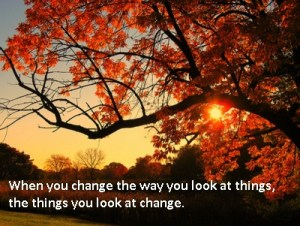 Motivational Poster - When you change the way you look at things...