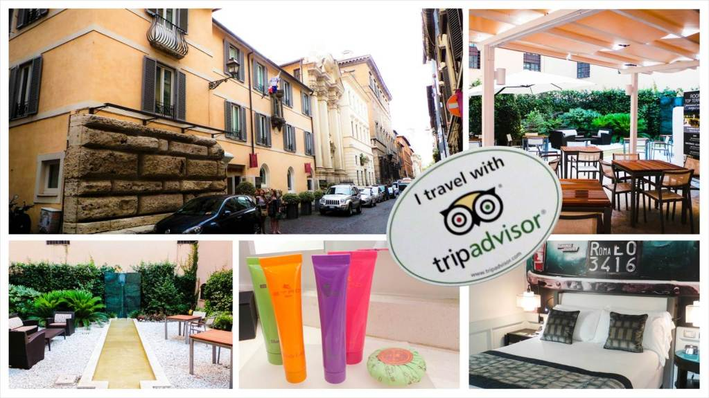 Hotel Indigo Rome collage with Trip Advisor Logo