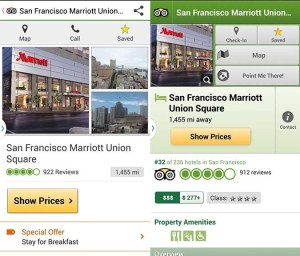 Trip Advisor / City Guide location detail screens