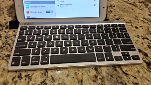 Photo: ZAGGkeys FLEX keyboard and Samsung tablet