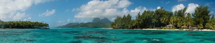 Panoramic photo of Bora Bora.