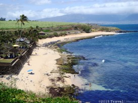 There are signs warning of the strong tides at Hookipa Beach Park, but it is a beautiful beach with facilities, not too far from Paia.