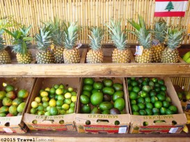 Don't worry about missing breakfast when you set out on the Road to Hana. You'll find plenty of roadside stands, like this farmer's stand not far from Paia. (Oddly, the pineapples were the only thing not homegrown.)