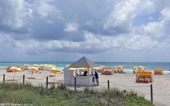 Photo: Courtyard Cadillac Hotel beach rental kiosk