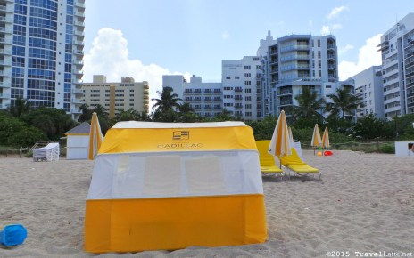 Photo: Courtyard Cadillac Hotel beach umbrellas and cabanas