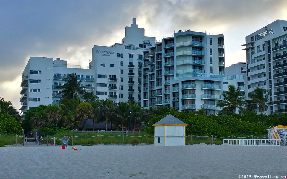 Photo: Courtyard Cadillac Hotel as seen from the beach