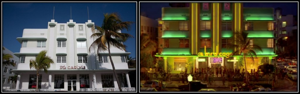 Photo: The Carlyle building on Ocean Drive and as seen in The Birdcage