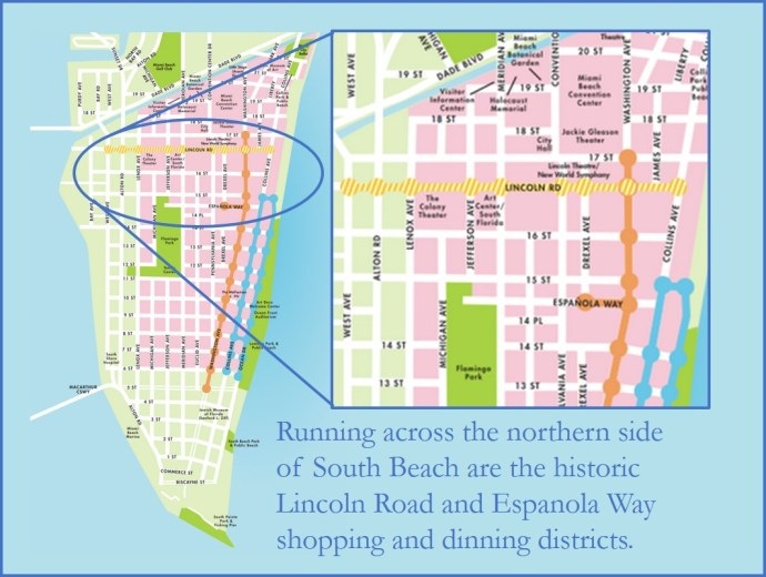 Exploring Iconic Miami Beach Destinations - Map of Lincoln Road and Espanola Way