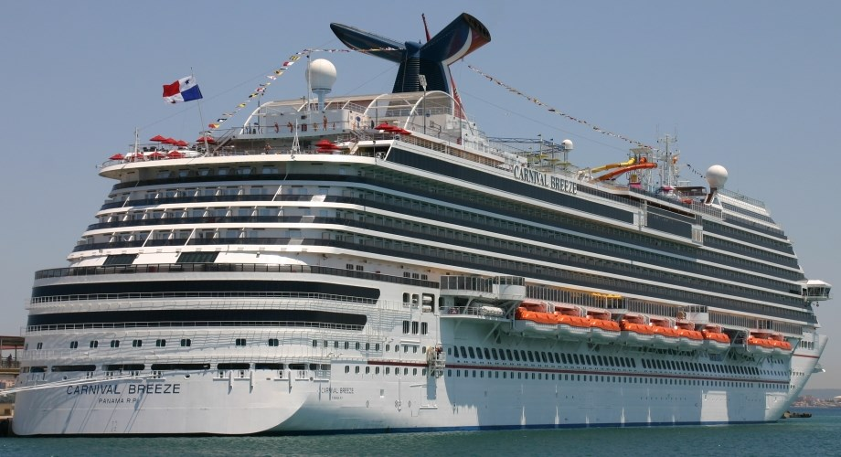 Cruising on the Internet - available on the Carnival Breeze