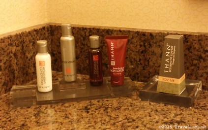 We enjoyed the Thann bath amenities during our stay at the Atlanta Marriott Buckhead.