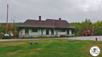 The Grand Trunk Railway Station in Gorham NH