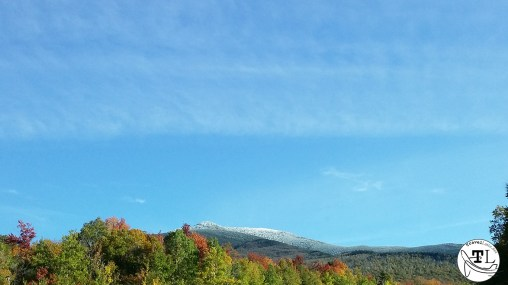 A Dusting of Snow in October in the White Mountains