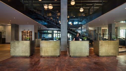Hotel Van Zandt Front Desk via @TravelLatte