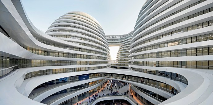 Galaxy Soho Building by Hufton & Crow via @TravelLatte