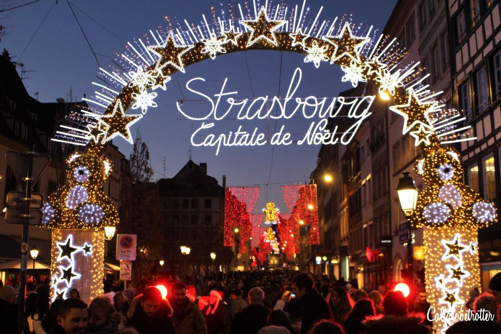 CaliGlobetrotter in Strasbourg on Five Festive Cities with Charming Christmas Markets via TravelLatte.net