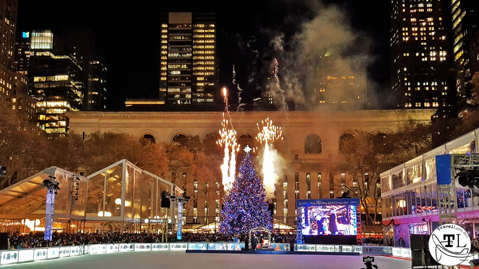Bryant Park Christmas Tree - Christmas in New York via TravelLatte.net